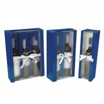 Box for Wine  with Window and Bow