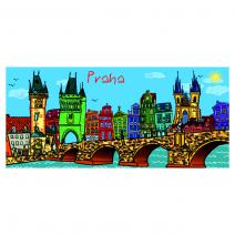 Metallised Panorama Magnet - Illustration
